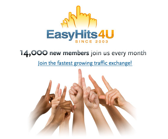 14,000 new members join us every month. Join the fastest growing traffic exchange!