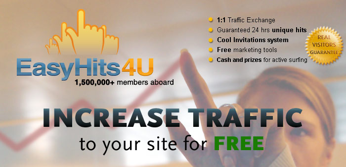 EasyHits4U - Increase Traffic to your site for FREE