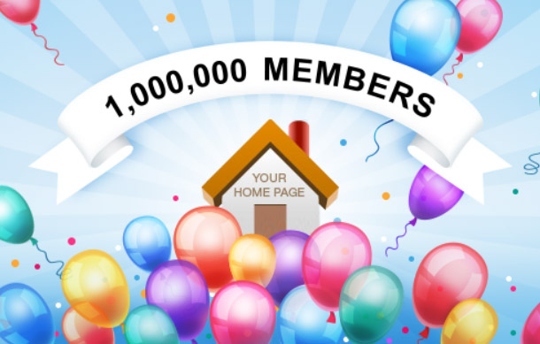 Join us today to celebrate 1,000,000 members milestone