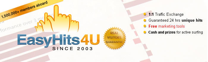EasyHits4U - Show Your Site to 1000s of potential customers - Start Receiving New Traffic Now!